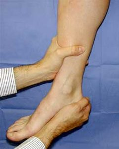 physical examination for ankle instability mike smith